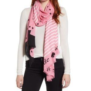 Kate spade New York bakery dot oblong scarf nwot